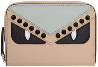 Fendi Multicolor Bag Bugs Elite Mini Zip Wallet