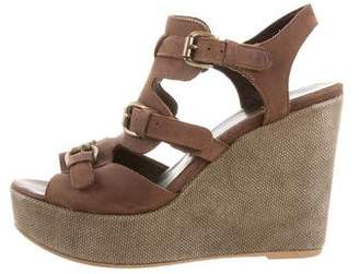 Barneys New York Barney's New York Suede Wedge Sandals