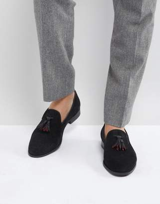 House Of Hounds Suede Tassel Slipper Loafers