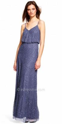 Adrianna Papell Halter Beaded Blouson Evening Dress $260 thestylecure.com
