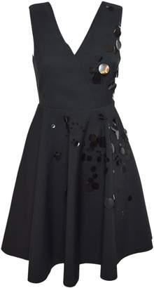 MSGM Embellished Flared Mini Dress