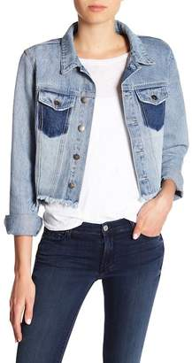 MinkPink Highlight Frayed Trim Cutoff Jacket