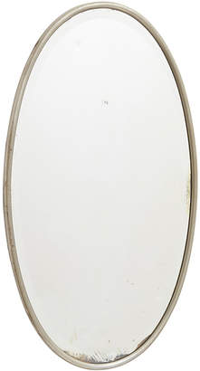 Rejuvenation Beveled Mirror w/ Nickel-Plated Brass Frame