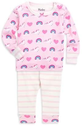 Hatley Baby Girl's Two-Piece Unicorn Pajama Set