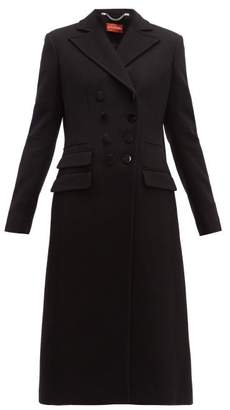 Altuzarra Janine Double Breasted Wool Blend Coat - Womens - Black