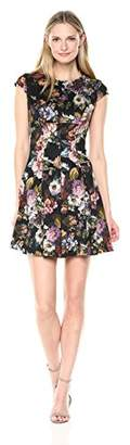Julian Taylor Women's Short Sleeve Floral Dress