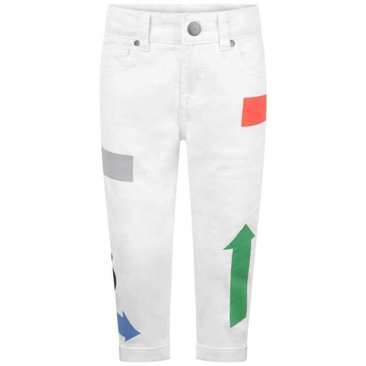 KidsBoys White Arrow Print Lohan Jeans