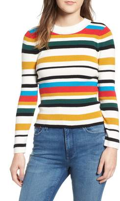Cotton Emporium Stripe Rib Knit Sweater