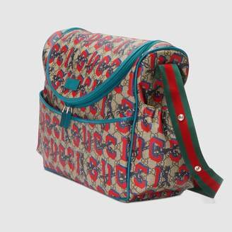 Gucci GG wolves diaper bag