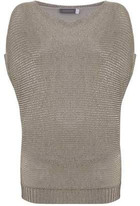Mint Velvet Oyster Metallic Short Sleeve Knit