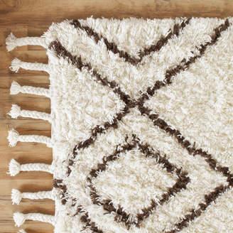 Birch Lane Royston Shag Hand-Woven Wool Cream Area Rug