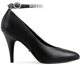 Gucci Women's Leather Pumps with Crystals