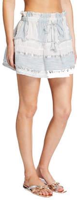 Ramy Brook Alba Metallic Short Skirt