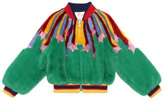 Gucci Kids Faux fur bomber jacket