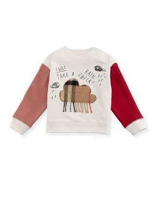 Burberry Rain Check Colorblock Sweatshirt, Size 6M-3Y
