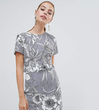 Missguided Petite Floral Open Back Mini Dress