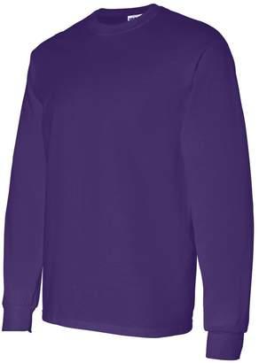 Gildan Men's Heavy Taped Neck Long Sleeve Jersey T-Shirt