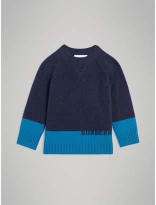 Burberry Childrens Logo Intarsia Cashmere Sweater