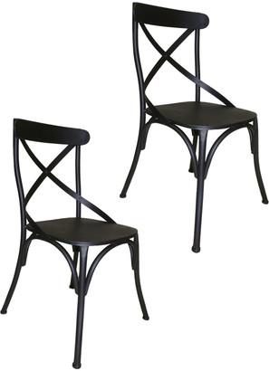 Pangea Set Of 2 Dylan Metal Dining Chair