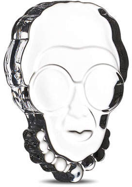 Nude Iris Apfel Clear Paperweight