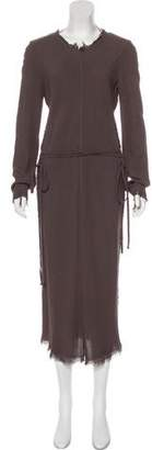 Raquel Allegra Distressed Midi Dress w/ Tags
