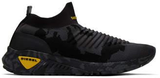 Diesel Black Camo S-KB Sock Sneakers