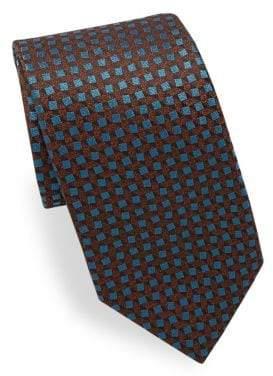 Charvet Square Pattern Silk Tie