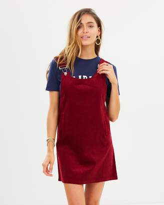 Missguided Cord Pinafore Dress