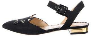 Charlotte Olympia Kitty Slingback Sandals w/ Tags