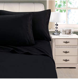 Cathay Home Inc. 3-Line Stripe Embroidery 3-Pc. Twin Sheet Set Bedding