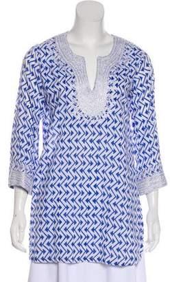 Roberta Roller Rabbit Long Sleeve Knit Tunic
