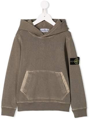 Stone Island Junior logo patch hoodie