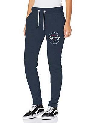 Superdry Women's Applique Joggers Sports Trousers Sports Trousers,10 (Manufacturer Size: 38)