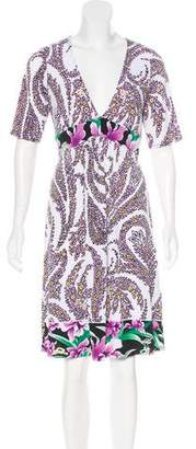 Tahari Floral Print Knee-Length Dress