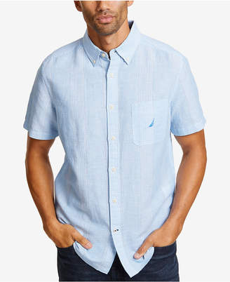 Nautica Men Linen Thin Stripe Shirt