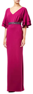 Adrianna Papell Long Crepe Dress, Plum