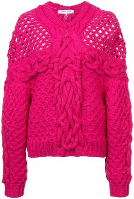 Prabal Gurung chunky cable knit sweater