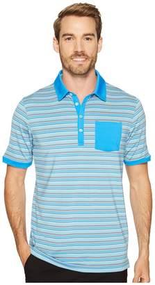 Puma Tailored Pocket Stripe Polo Men's Short Sleeve Knit