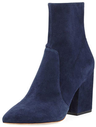 da67a56b608e at Neiman Marcus · Loeffler Randall Isla Suede Chunky-Heel Boots