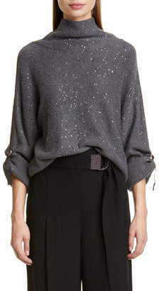 Brunello Cucinelli Sequin Cashmere & Silk Sweater