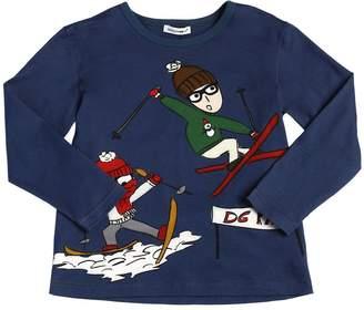 Dolce & Gabbana Designers Jersey Long Sleeve T-Shirt