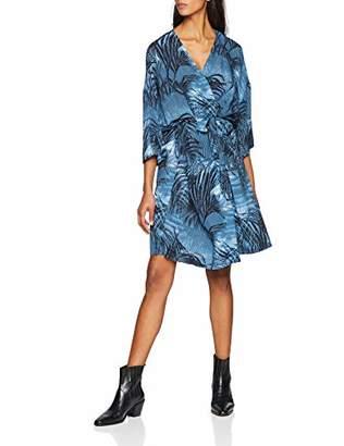 Won Hundred Women's Avril Cocktail Floral 3/4 Sleeve Party Dress,8 (Manufacturer Size: 36)