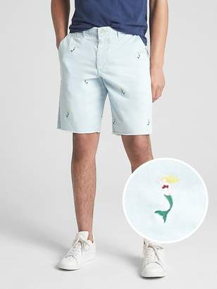 "Gap 10"" Embroidered Twill Shorts"