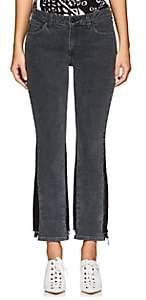 Derek Lam 10 Crosby Women's Gia Stretch Flared Crop Jeans - Dark Gray