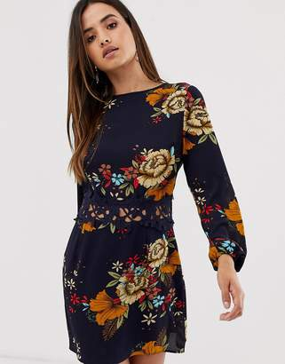 AX Paris floral long sleeve dress