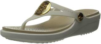 Crocs Women's Sanrah Circle Wedge Flip W Dress Sandal