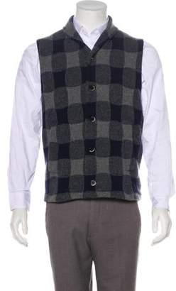 Barena Venezia Wool-Blend Check Sweater Vest