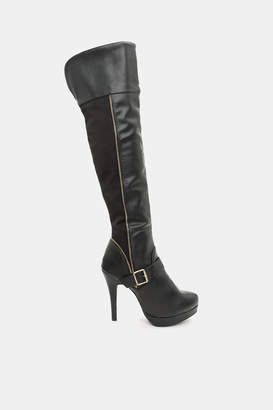 Ardene Knee High Stretch Back & Heel Boots