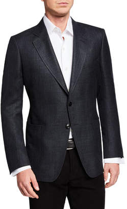 Tom Ford Men's O'Connor Textured Wool/Linen Jacket