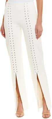 Jonathan Simkhai Grommet Lace Up Wool-Blend Pant